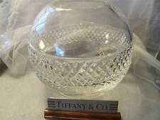 "Tiffany & Co. Crystal Diamond Cut Rose Bowl Vase 7"""