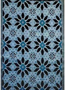 BalajeesUSA Outdoor Patio Rugs clearance 5'x7' (152 cm x 214 cm) Sky Blue,