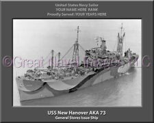 USS New Hanover AKA 73 Personalized Canvas Ship Photo Print Navy Veteran Gift