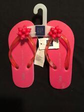 NWT Gapkids Girls Pink Beads Flip Flops Size 10-11