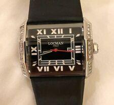 Otto Diamante Dial Negro Satén Negro Reloj de señoras de lo -232 bkdbksa