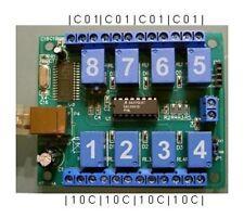 USB-relé tarjeta con 8 relés + pc tras adaptador i2c