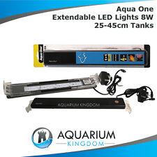 Aqua One Extendable LED Light 8W for 25-45cm Long Fish Tank Aquarium Reflector
