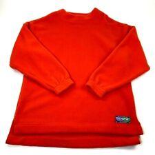 Abercrombie & Fitch Techsport Mens Fleece Sweatshirt Orange Crew Neck Pullover M