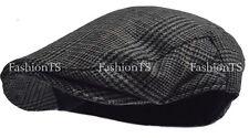 Traditional Herringbone Wool Tweed Plaid Newsboy Ivy Gatsby Hat Golf Hat Cabbie