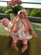 Tilda Hase Ostern Puppe Handarbeit Handmade