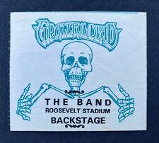 GRATEFUL DEAD & THE BAND AUGUST 1, 1973 ORIGINAL BACKSTAGE PASS RARE GARCIA 🐢