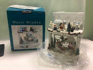 Kirkland Signature Christmas Water Window Musical Lighted Snowman Snowmen NEW!!