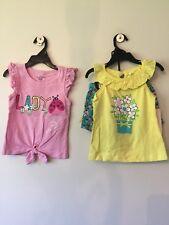 NWT Girls KIDS HEADQUARTERS Ladybug Flowers 3-Piece Tank Top Shorts Set Size 6