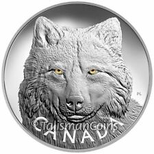Canada 2017 Enamel Eyes of Wildlife #4 Timber Wolf $250 1 Kilogram Silver Kilo