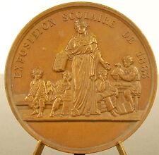 Médaille ville de Troyes Exposition scolaire 1883 figure de l'enseignement medal