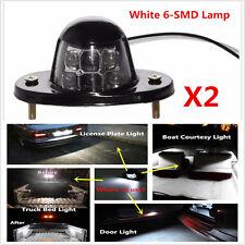White Universal LED License Plate Light for Car Van Trailer Trucks Screw Bolt-on