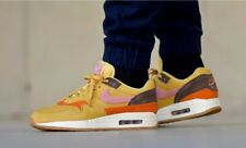 "NIKE AIR MAX 1 SIZE UK 8.5 EUR 43"" WHEAT GOLD/BAROQUE BROWN/RUST PINK ."