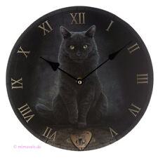 Wanduhr Bilderuhr Uhr His Master Voice Ouija Katze mit Hexenbrett Talking Board
