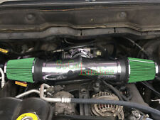 Chrome Green Dual Head Air Intake Set For 2004-2009 Jeep Liberty 3.7L V6