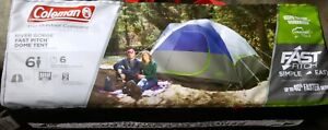 Coleman River Gorge Fast Pitch 6 Person Tent - Outdoor Camping Hiking