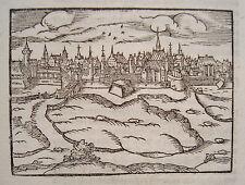 Leipzig Sachsen  sehr seltener echter alter Holzschnitt von Saur 1610