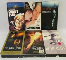 6 Vhs Horror/Thriller Child's Play, Insomnia, the Talented Mr. Ripley and more
