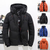 2018 Men's Winter Warm Duck Down Jacket Ski Jacket Snow Hooded Coat Climbing