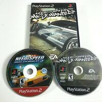 Lot of 2 Need For Speed Most Wanted, Hot Pursuit 2 (Playstation 2 PS2) disc only