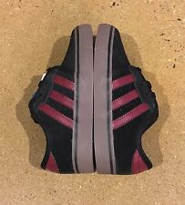 Adidas Seeley J Kids Size 11 K US Black Burgundy Skate Shoes Sneakers