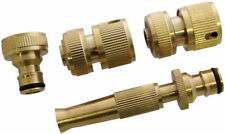 "Brass Hose Quick Fit Tap Adapter Adaptor Fitting Pipe Connector 3/4"" FULL SET"