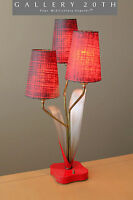 RARE! MID CENTURY MODERN MINTY LAUREL LAMP! 60'S 50'S VTG MAJESTIC RED MOD LIGHT