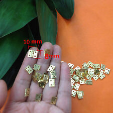 20pcs Mini Brass Plated Hinge - Small Decorative Jewelry Cigar Box Hinges