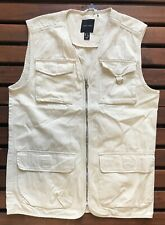 New Look Womens Cotton Fisherman Vest Jacket - Small