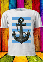 Sailor Anchor Sea With Blue Line T-shirt Vest Tank Top Men Women Unisex 2075