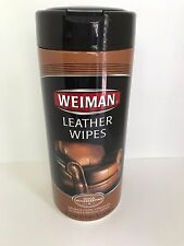 Weiman Leather Wipes 30 count Furniture Car Seats Handbags Shoes Cleaner Polish