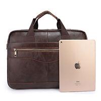 Leather Type Men Business Briefcase Handbag Laptop Shoulder Messenger Bag New