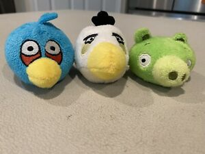 Angry Birds Soft Plush Mini Finger PuppetsFlingers Pencil Toppers Lot
