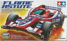 TAMIYA 1:32 MINI 4WD FLAME ASTUTE  (AR CHASSIS) CON MOTORE INCLUSO ART 18705