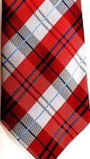 "Clericci Men's Polyester Tie 59"" X 3.5"" Multi Color Plaid"