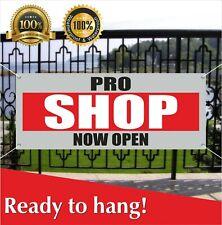 Pro Shop Now Open Banner Vinyl / Mesh Banner Sign Grand Opening New Store