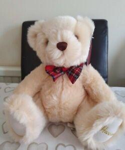 HARRODS TEDDY BEAR WITH TARTAN BOW TIE Christmas 2020 STOCK brand new with tags