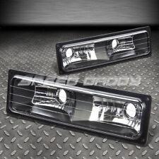 FOR 88-98 GMC SIERRA K1500/K2500/K3500 PAIR BLACK CRYSTAL LENS BUMPER LIGHTS