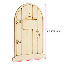 5 x Fairy Door A- Wood Craft Decoration DIY - Party bag gift girl .