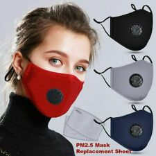 Masque en Coton PM2.5 Filtre à Charbon Actif Respirateur Bouche-moufle Anti-buée