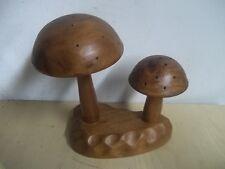 Vintage Mid Century Monkey Pod Mushroom Wood Figure Carved Wood