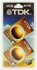 2 X Tdk Vhs-c 45 Min cintas de videocámara de alta calidad 45min-Nuevo