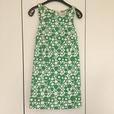 Vintage 60s Style Tunic Shift Dress Green Geometric Print River Island Size 8