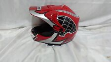 Red WOW Spider Web M HJOY Motocross MX Bike Dirtbike Youth Kids Helmet (Medium)