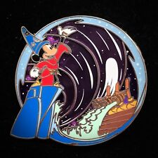 LE 500 Sorcerer Hat Mickey Fantasia Purple Stained Glass #2 Disney Park Pack Pin