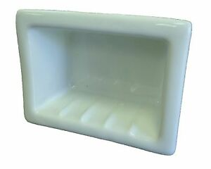 6x4 Seafoam blue Porcelain Recessed Soap Dish Shower Tile Ceramic Holder H46R 73