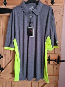 Woodworm Mens Polo Shirt, Tshirt, Size 4XL, Grey/ Green, New