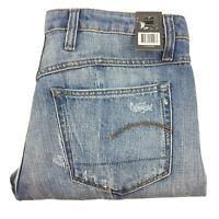 G-Star Gstar Raw Womens Lanc 3D High Straight Blue Denim Jeans W28 L32 NEW