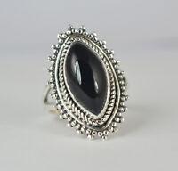 Black Onyx Ring 925 Sterling Silver Handmade Ring, Black Onyx Jewelry