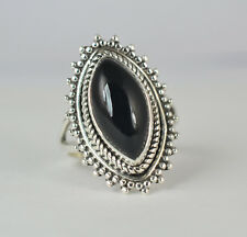 Black Onyx Ring 925 Sterling Silver Handmade Ring, Black Onyx Jewelry